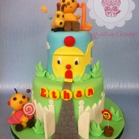 Rollie Polie Olie First Birthday Cake This is my roiled police olie birthday cake for a 1 year olds birthday party