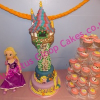 Rapunzel Theme Party Rapunzel tower cake