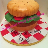 3D Hamburger Cake With Lettuce And Tomato