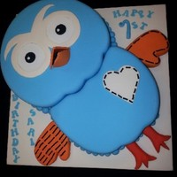 Mud Cake With Fondant Finish Hoot The Owl Mud Cake with fondant finish. Hoot the Owl.