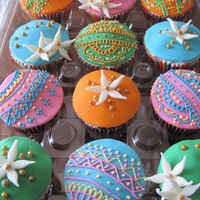 Indianhenna Inspired Cupcakes For A Friends Anniversary Celebration   Indian/Henna-inspired cupcakes for a friend's anniversary celebration.