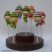 Footballer Supporter Cake Pops Footballer supporter Cake Pops