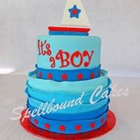 Sailboat Baby Shower Cake Sailboat baby shower cake