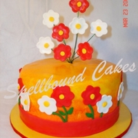 Red And Yellow Cake Red and yellow cake.
