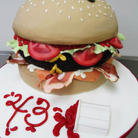 Abbeys Burger Cake