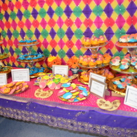 Dessert Table Setup Made For My Sisters Mehndi An Assortment Of Different Flavored Cupcakes Mango Red Velvet Lemon And Cherry Chocolate Dessert table setup made for my sister's Mehndi. An assortment of different flavored cupcakes (mango, red velvet, lemon and cherry...