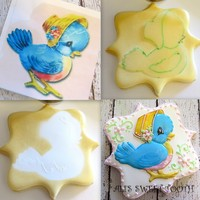 An Easy Way To Get Uniform Cookies Without A Kopykake. This is an option if you don't have a kopykake. I trace the image with a food safe marker on acetate. You can use a little icing as...