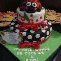 Lady Bug Baby Shower Cake Next To Its Inspiration The Invitation Lady Bug Baby Shower Cake next to its inspiration (the invitation).