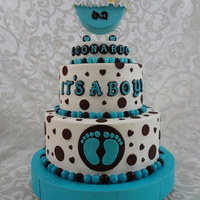 Baby Shower Cake All buttercream with fondant accents and decorations.