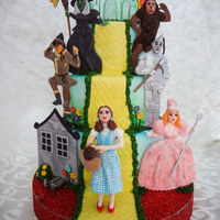 Wizard Of Oz Hi everyone....I was asked to make a Wizard of Oz themed cake for a surprise 50th birthday. It was my first time trying to make figures and...