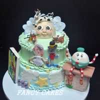 Nursery Rhyme Theme Shower Cake Nursery Rhyme theme shower cake