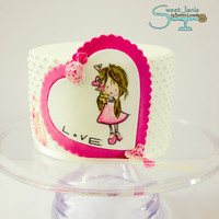 Love Is In The Air... Hand painted on fondant, hope you like it :-) xx