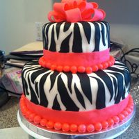 Zebra Cake For My Daughters 4Th Birthday Zebra Cake for my daughters 4th birthday