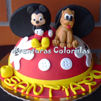 Mickey And Pluto By Aventuras Coloridas