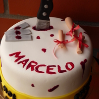 Dexter Cake Cake made by Aventuras Coloridas
