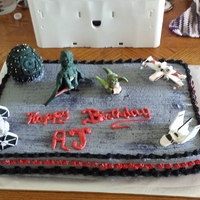 Star Wars Cake For 21 Year Old Nephew   Star wars cake for 21 year old nephew.