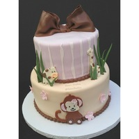Cocalo Jacana Themed Two Tier Baby Shower Cake Design Was Inspired By Yalantzi Client Found And Sent Me The Picture And I Saw That She Got... CoCaLo Jacana themed two tier baby shower cake. Design was inspired by YALANTZI (client found and sent me the picture and I saw that she...