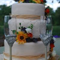 Dug This One Out Of The Archives First Wedding Cake *Dug this one out of the archives!! First wedding cake. :-)