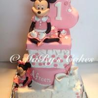 This Is My First Attempt At A Minnie Mouse Cake This is my first attempt at a Minnie Mouse cake.