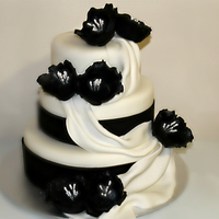 Wedding Cakes Simple black and white Wedding Cake