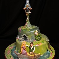Selection Of Celebration And Birthday Cakes   Tangled Cake