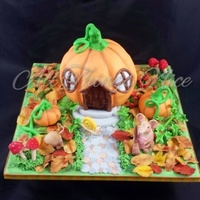 I Love Autumn Time The Colours Are So Beautiful X I Decide To Make A Cute Halloween Cake Rather Then Scary One The Pumpkin Is A Lemon Flav... I love autumn time the colours are so beautiful x I decide to make a cute Halloween cake rather then scary one. The pumpkin is a lemon...