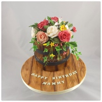 Flower Barrel Birthday Cake I made this for my wonderful mother, she loved it :)