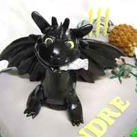 Toothless Birthday Cake