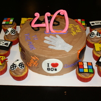 80S Themed Cake   80s themed cake