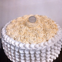 Petal And Rosette Anniversary Cake Petal and rosette anniversary cake