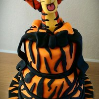 Pop Out Tigger Three Tier Cake *