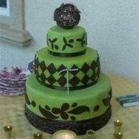 Art Deco Inspired 40Th Birthday Cake Art Deco Inspired 40th Birthday Cake