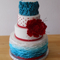 A Small Wedding Cake For A Lovely Boise Wedding A small wedding cake for a lovely Boise wedding.