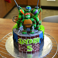 Tmnt Cake Teenage Mutant Ninja Turtles Birthday Cake!