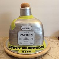 Patron Bottle Birthday Cake The Bottle Is All Cake The Cork Is Fondantgum Paste Its A Sour Cream Pound Cake Covered In Bc Amp Fondant Patron Bottle Birthday Cake. The bottle is all cake, the cork is fondant/gum paste. It's a sour cream pound cake covered in BC &...