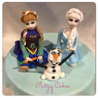Hand-Molded Frozen Figures, Anna, Elsa, And Olaf