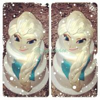 Frozen Elsa Three Tiered Birthday Cake Hand-painted Elsa Frozen cake by Leiticia Pestova at Ritzy Cakes