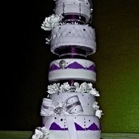 10-Tier Glam Wedding Cake 10-tier glam wedding cake by Leiticia Rice