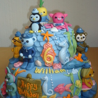 Octonauts Birthday Cake Chocolate Fudge Cake With Chocolate Ganache And Light Chocolate Mousse Filling Then Covered With Fondant And Toppe... Octonauts Birthday Cake Chocolate Fudge cake with chocolate ganache and light chocolate mousse filling, then covered with fondant and...