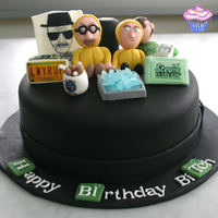 Breaking Bad Cake Love This Show So When A Friend Of Mine Asked Me To Make It For Her Husbands Birthday I Jumped At The Chance Everythin  Breaking Bad Cake. Love this show so when a friend of mine asked me to make it for her husband's birthday, I jumped at the chance....