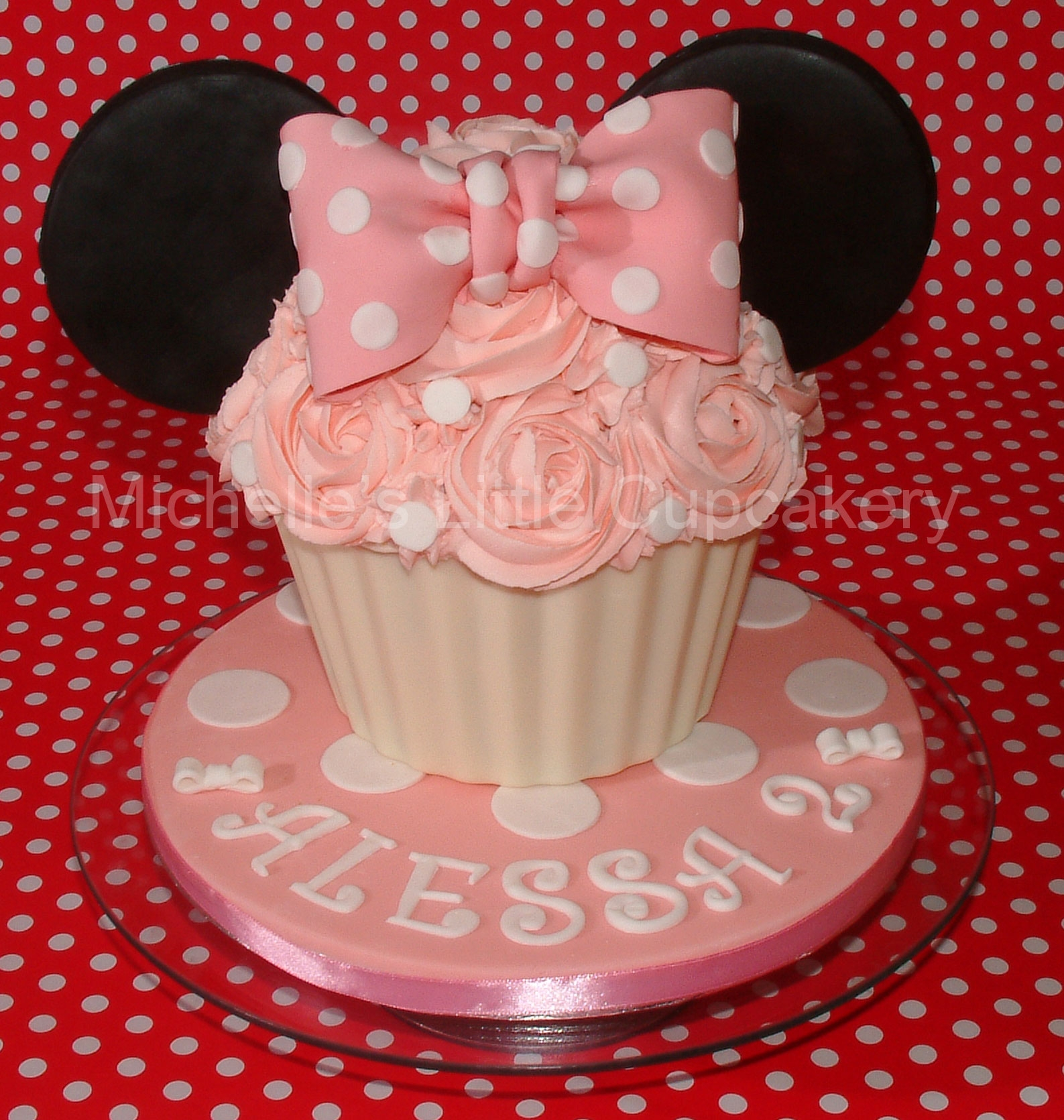 Minnie Mouse Inspired Giant Lemon Cupcake Minnie Mouse inspired giant lemon cupcake.