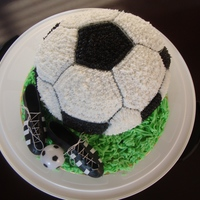 I Made This Soccer Cake Yesterday For My Little Boys 2Nd Birthday First Time I Used The Wilton Cake Pan I Have A Lot To Learn I made this soccer cake yesterday for my little boy's 2nd birthday. first time I used the wilton cake pan. I have a lot to learn!!!