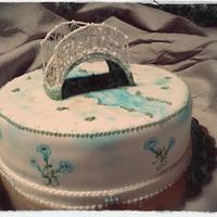Painted Birthday Cake With Royal Icing Bridge *