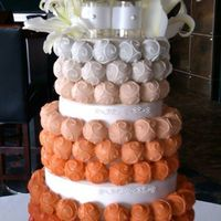 Cake Bite Cakes This Ombre Cake Bite Cake I did over the weekend for a wonderful couple who had their wedding reception at Comerica Park, home of the...