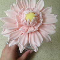 Fondant Flower link to the tutorial http://brandy-cakes.weebly.com/4/post/2013/06/fondant-dahlia.html