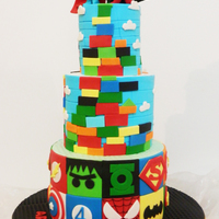 Super Heroes + Mega Blocks + Mr. Men Books My boys love super heroes + mega blocks + Mr. Men books. The cake is a mix of all things they love! Mr Bump is superman & Mr. Strong is...