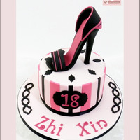 Fashionista Stiletto Cake 18th Birthday Celebration Cake