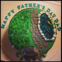 Fathers Day Cake For My Landscape Business Owner Husband Father's Day cake for my landscape business owner husband.