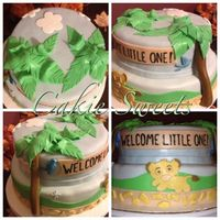 Lion Kind Welcome Little One Themed Cake Lion Kind welcome little one themed cake