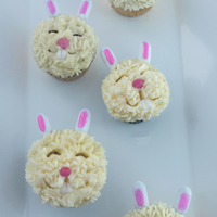 Mini Bunny Cupcakes mini bunny cupcakes by Alana Jones-Mann // see more photos: http://alanajonesmann.wordpress.com/2013/03/27/diy-mini-bunny-cupcakes/